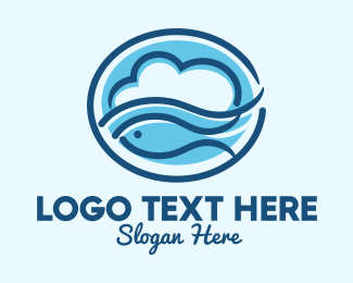 Marine Biodiversity - Ocean Fish Cloud  logo design