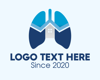 Emphysema - Blue Respiratory Lungs Clinic logo design
