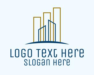 Buildings - Minimalist City Buildings logo design