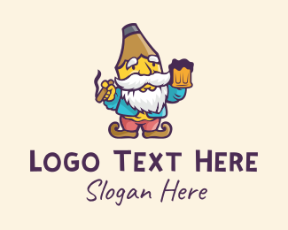 Smoking - Pencil Dwarf Beer logo design