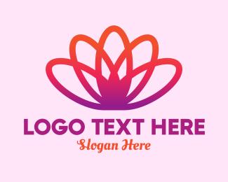 Gradient - Yoga Gradient Flower logo design