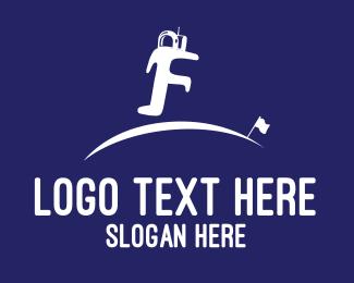 Space - Astronaut F logo design