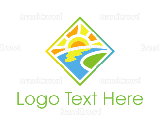 Flow - Sunny Valley logo design