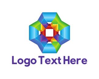 Psychedelic - Psychedelic Flower logo design