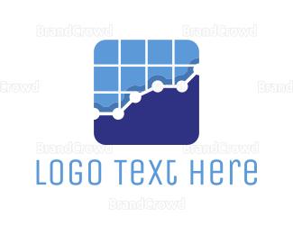 Banking - Tech Stats Chart logo design