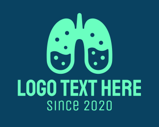 Chem - Respiratory Lung Laboratory logo design