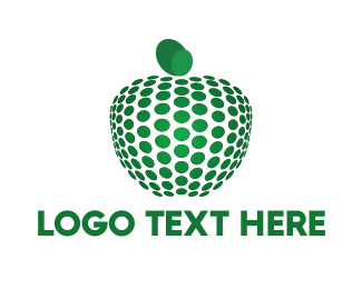Imaging - Dots & Green Apple logo design