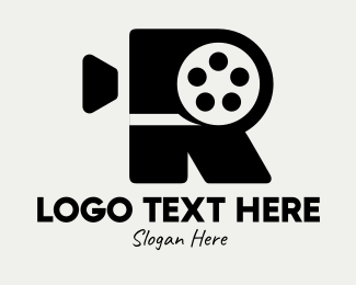 Production Studio - Film Camera Letter R logo design