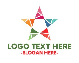 Greeting Card - Colorful Star logo design