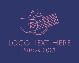 Acoustic - Acoustic Guitar Performer logo design