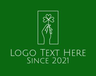 Rectangle - Minimalist Cloverleaf Hand logo design