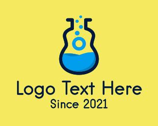 Mandolin - Blue Guitar Lab  logo design