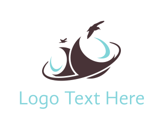 Coconut - Brown Birds logo design