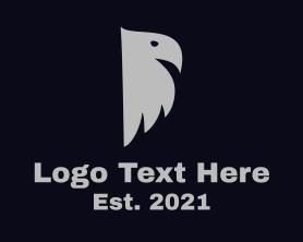 Gray Bird Silhouette Logo
