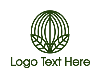 Bean - Green Coffee Bean Leaf  logo design
