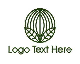 Green Leaf - Green Coffee Bean Leaf logo design