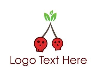 Berry - Cherry Skull logo design