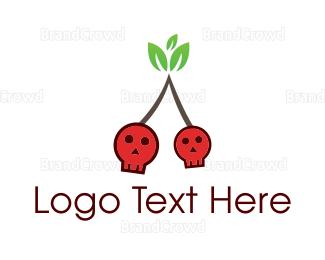 Cherry - Cherry Skull logo design