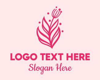Yard Service - Pink Floral Bloom logo design