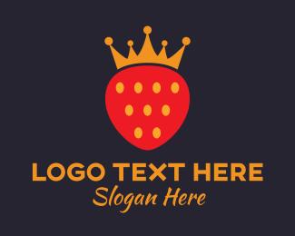 Queen - Royal Strawberry logo design
