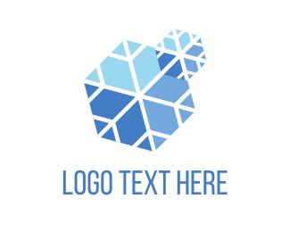 Snowboard - Blue Snow logo design