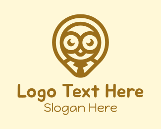 Mascot - Bird Employee Location Pin logo design