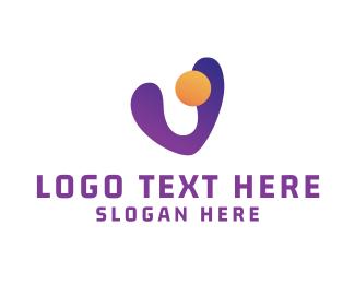 Jelly - Futuristic V logo design