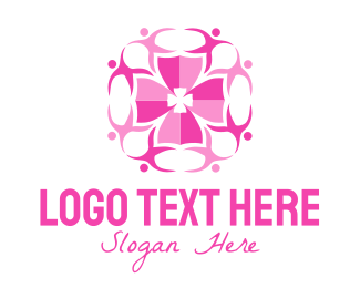 Volunteer - Pink People Group logo design