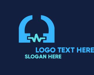 Quote - Headphone Sounds logo design