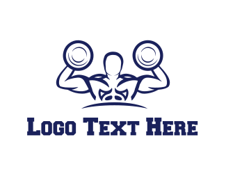Bodybuilder - Strong Bodybuilder logo design