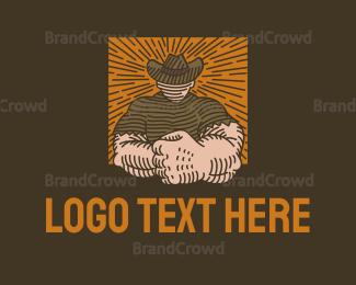 Fighting - Strong Cowboy logo design