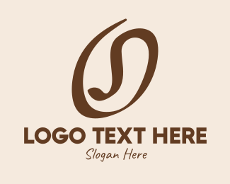 Coffee Farmer - Coffee Bean Letter O logo design