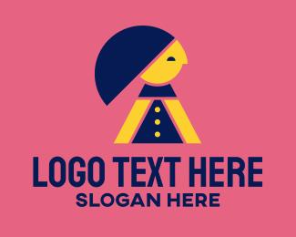 Modeling Agency - Modern Happy Woman logo design
