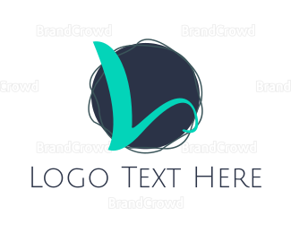 Letter L - Yarn Ball Letter L  logo design