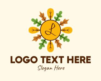 Autumn - Autumn Leaves Lettermark logo design