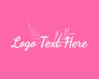 Beauty Parlour - Pink Wellness Wordmark logo design