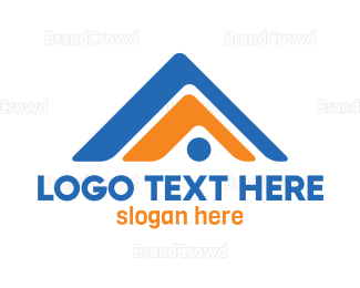 Roof - Modern A Roof logo design