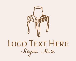 Wooden - Wooden Furniture Table logo design