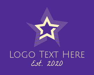 Actor - Bright Entertainment Star logo design