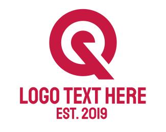 Grocery - Red Target Q logo design