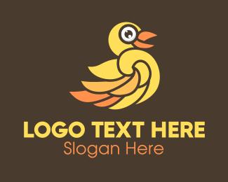 Duck - Yellow Duck logo design