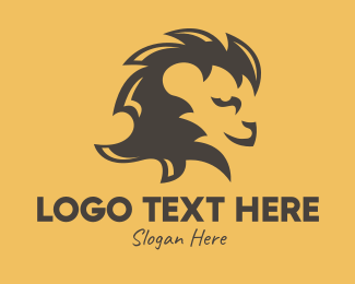 Savannah - Brown Lion Mane logo design