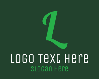 """Green Letter Text"" by BrandCrowd"