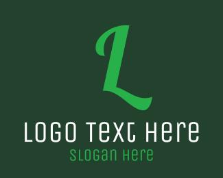 Company - Green Letter Text logo design