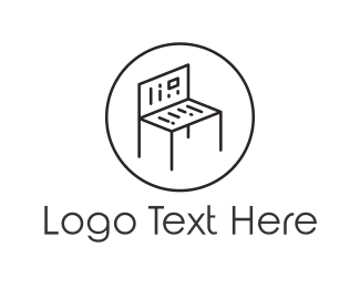 Seat - Reading Bench logo design