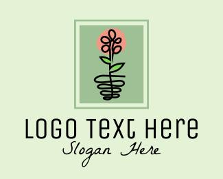 Botanical Product - Framed Wildflower  logo design