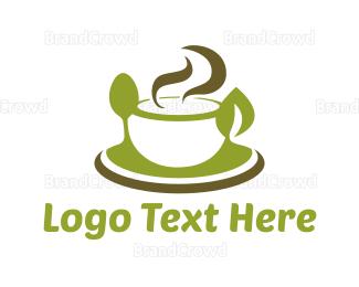 Herbal Tea - Green Soup logo design