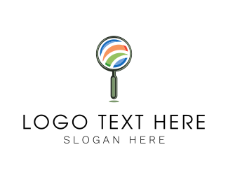 Investigate - Magnifying Glass logo design