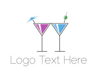 Martini - Alcoholic Drinks logo design