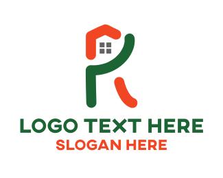 Home - R Home logo design